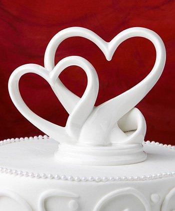 Interlocking Hearts Wedding Cake Topper Favour