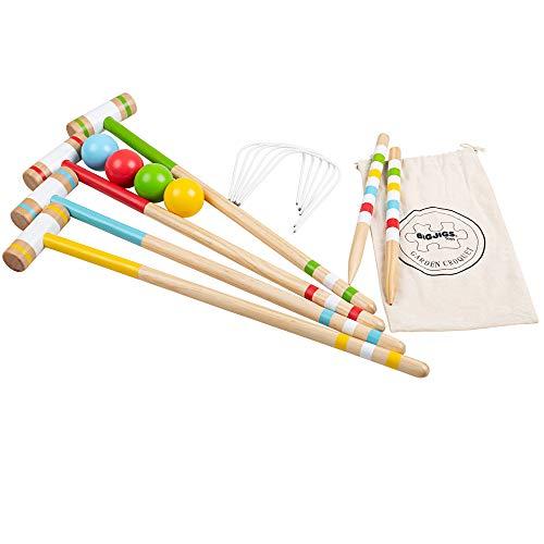 Bigjigs Toys Wooden Garden Croquet Outdoor Game Playset