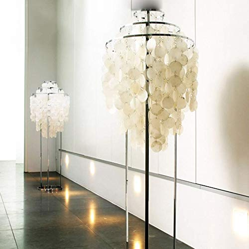 GBX Haushalt Stehlampe Moderne minimalistische weiße Muscheln Stehlampe Schlafzimmer Esszimmer 110-220V Stehlampe,Warmes Licht