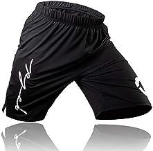 Gold BJJ Jiu Jitsu Shorts - IBJJF Approved No Gi Fight Short - for Grappling, MMA, Wrestling, Muay Thai & Boxing (Small) Black