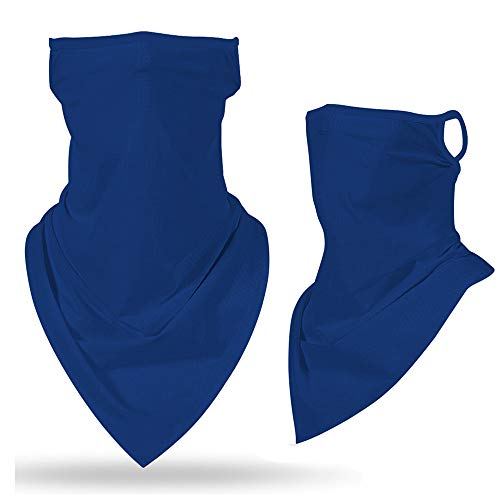 Men Women Seamless Face Mask Scarf Bandana Ear Loops Face Neck Gaiters for Dust Mask