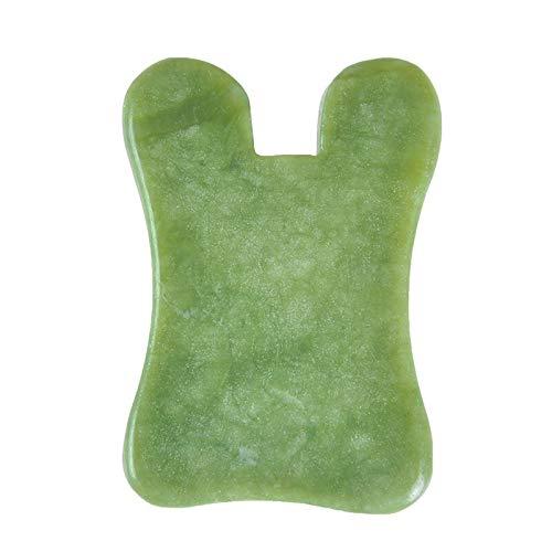 ZUQIEE Natural Jade Stone Guasha Board Tool Massage Therapy SPA Therapy Massager Antistress Cuidado del Cuerpo Tablero de raspado 3 Estilo (Color : As Shown)