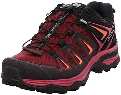 Salomon X Ultra 3 GTX W, Zapatillas de Senderismo Mujer, Morado (Tawny Port/Black/Living Coral 000), 41 1/3 EU