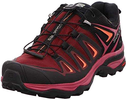SALOMON Damen Ultra 3 GTX Trekking- & Wanderhalbschuhe, Violett (Tawny Port/Black/Living Coral 000), 40 EU