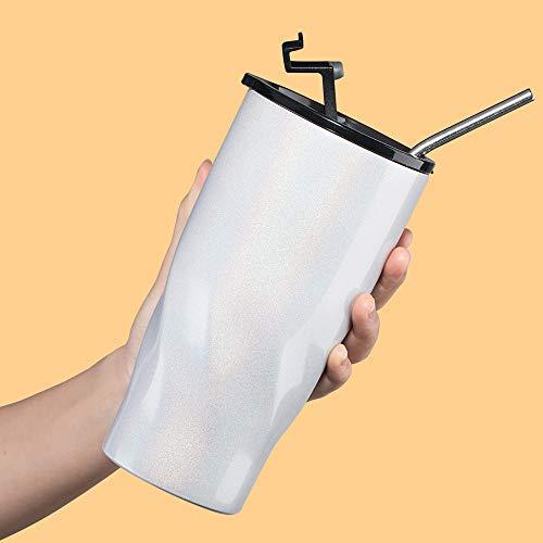 Luxear Coffee to Go Becher 580ml Edelstahl Autobecher mit Deckel,Trinkbecher für unterwegs, Travel Mug BPA Frei, Leicht & Auslaufsicher 50ml 20OZ Weiß