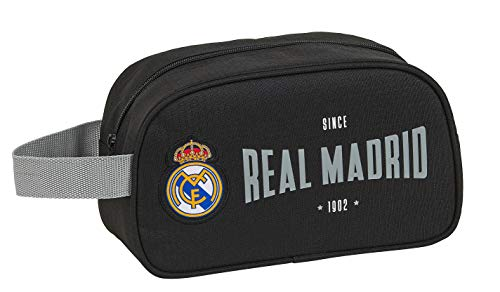 safta 812024248 Neceser, Bolsa de Aseo Adaptable a Carro Real Madrid CF, Multicolor