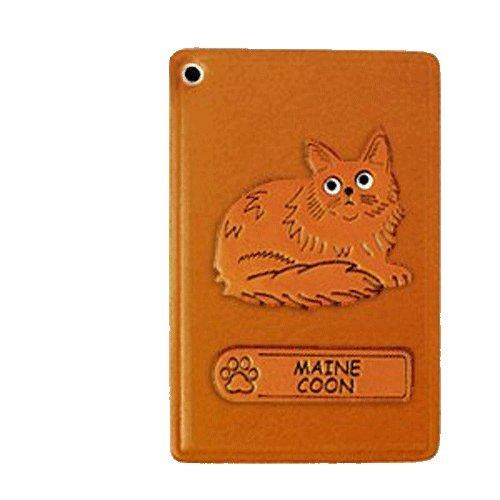 Maine-Coon-Katze, Ausweis/ID/Kredit Karte Halter/VANCA Case **Handgefertigt in Japan