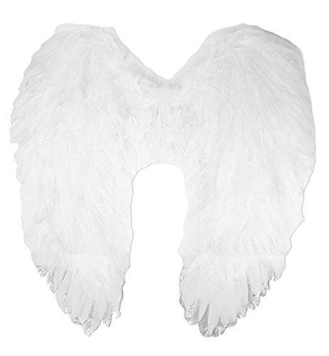 COOLMP Fiesta Palace - Ailes d'ange Plumes Moyenne Blanc New 65Cm