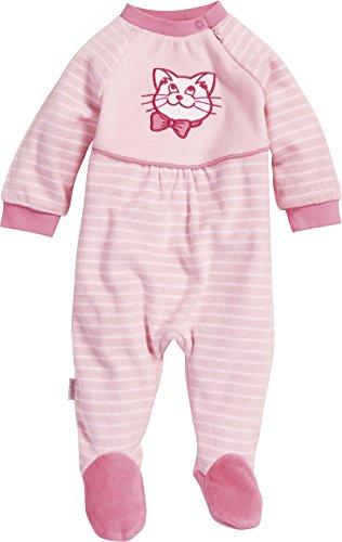 Playshoes Baby-Mädchen Schlafanzug Schlafoverall Nicki Katze Schlafstrampler, Rosa (original 900), (Herstellergröße: 62)