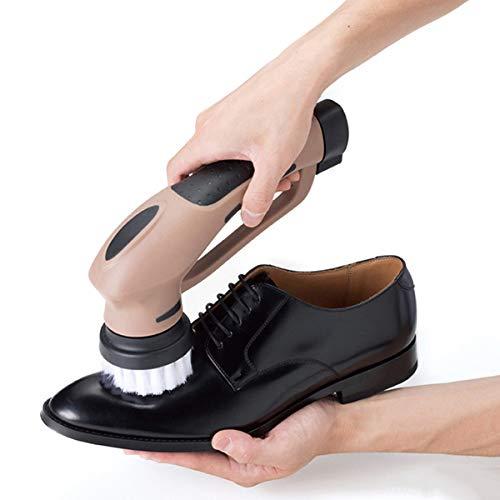 LDJDXCKX Elektrische Schuhbürste Schuhputzmaschine Kabellos Schuh-Polierer Schuhputzer Reinigungsbürste für Schuhe Rotierende Lederbürste, 3 Aufsätze