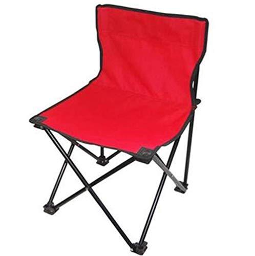 Repose-pieds Table Et Chaise Pliantes Extérieures/Chaise De Pêche avec Dossier Portable, Chaise Pliante De Dessin De Banc De Train 30x30x46cm(Couleur:Rouge,Noir) (Color : Red)