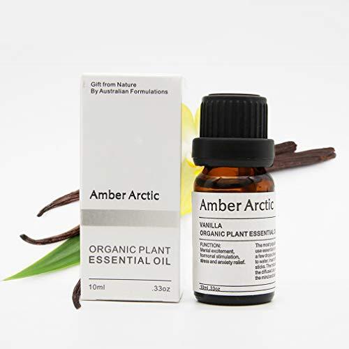 AMBER ARCTIC Vanille Ätherisches Öl für Diffusor, 100% Reines Frisches Bio-Pflanzen Therapie Vanille Öl 10ml