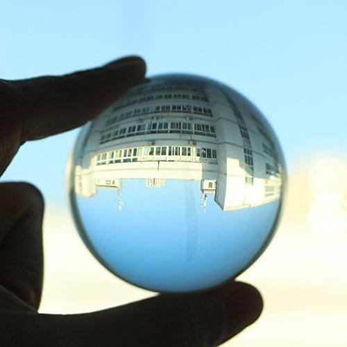 SUNJULY Palla di Cristallo, Sfere di Vetro Sfera di Cristallo Ultra Trasparente Buono per Fotografare per La Decorazione/Tavolo, Scrivania, Mensole/Marmi/Casa, 30 mm / 40 mm / 50 mm / 60 mm / 80 mm