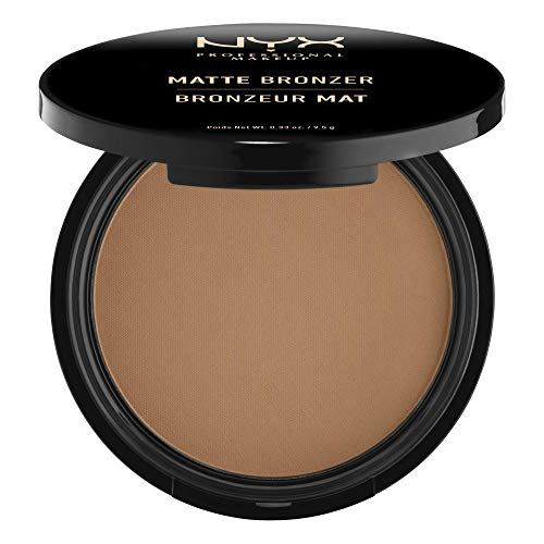 NYX Professional Makeup Matte Body Bronzer, Gepresstes Puder, Ohne Schimmer-Effekt, Vegane Formel, Deep Tan
