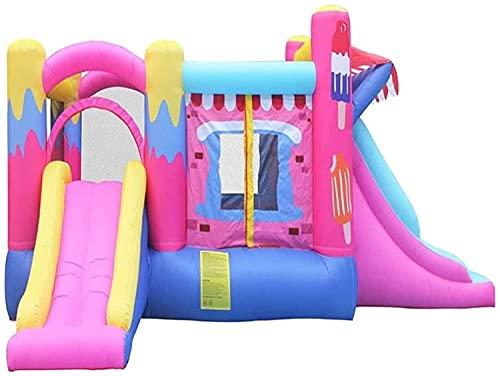wangYUEQ Kids Bouncy Castle Castillo Inflable Grande Trampoline Slide Instalaciones de Juego para niños Castillo Inflable Bootcer Inflable (520 x 275 x 205cm)