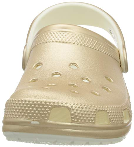 Crocs womens Classic Metallic Clog, Champagne, 10 Women 8 Men US Kansas