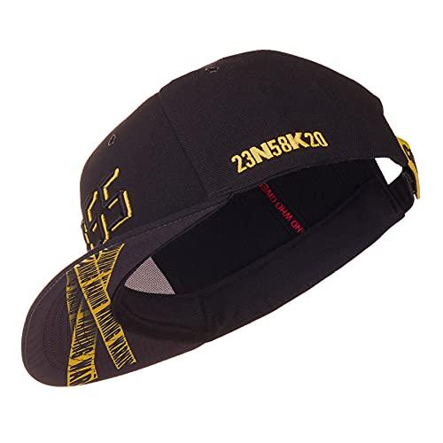 Nebelkind Snapback Cap Schwarz Gelb Doomsday 5-vor-12 Größenverstellbar Unisex One Size