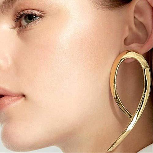 Oorbel bengelen metalen overdreven Vintage grote oorbellen voor vrouwen goud zilver sieradenegold