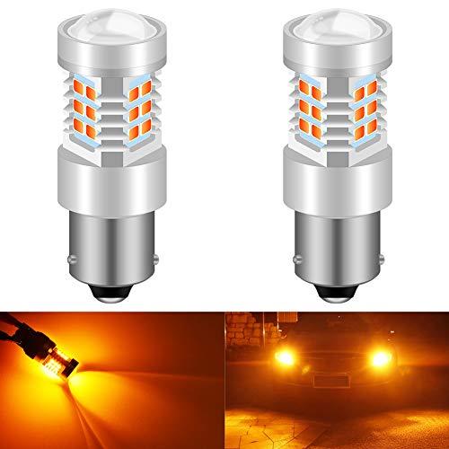 KATUR 7056 1156 BA15S 1141 Ampoules LED Jeux de puces 2835 extrêmement Brillantes et très Lumineuses avec projecteur pour Clignotants (Pack de 2)