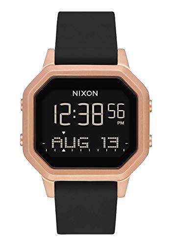 Nixon Damen Digital Smart Watch Armbanduhr mit Silikon Armband A1211-1098-00