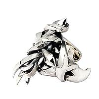 [エムズコレクション] M's collection シルバー925 クロス リング(フリーサイズ) 5号~17号 (6号) メンズ 十字架 レディース フリーサイズ