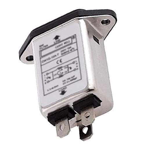 Soppressore del rumore del condizionatore della linea elettrica del filtro EMI RFI CW1D-10A-T 10A per apparecchiature elettroniche, filtro ondulato