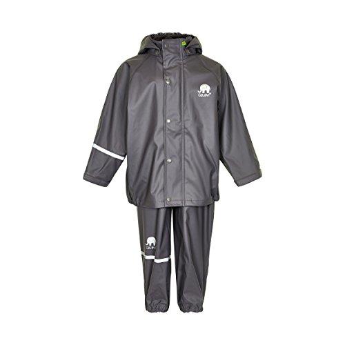 CeLaVi Jungen CeLaVi zweiteiliger Regenanzug in vielen Farben Regenjacke,,per pack Grau (Grey 174),(Herstellergröße:110)