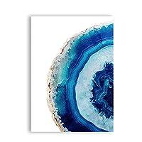 アートピクチャープリントブルーポスターキャンバス絵画装飾壁アートピクチャー水彩プリントアートウォールデコレーション60x90cmフレームレス