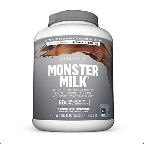 Cytosport Monster Milk All-in-One Muscle Recovery Protein Supplement Mix Chocolate Brownie 5.37 LB