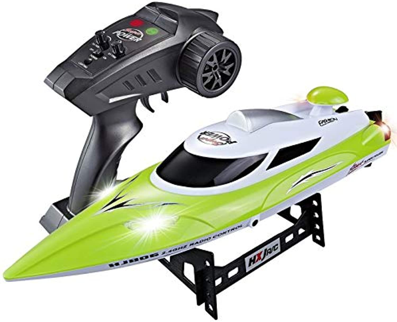 Generic YUKALA 2.4G High Speed Electric RC Racing Boat 35km h 200m Control Distance with Led Light  Water Cooling System Green