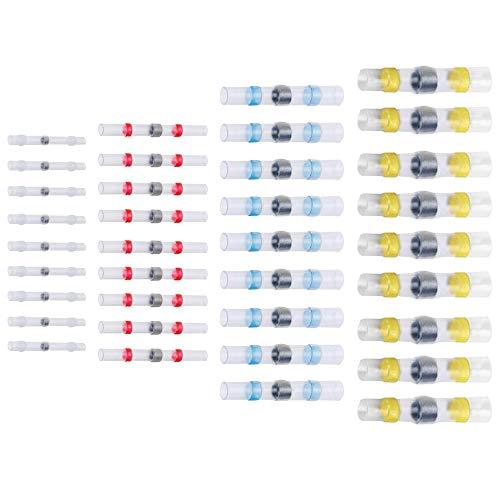 Lötverbinder Schrumpfschlauch Quetschverbinder Kabelverbinder Wasserdicht (25, Weiß - 26 * 1,7 mm)