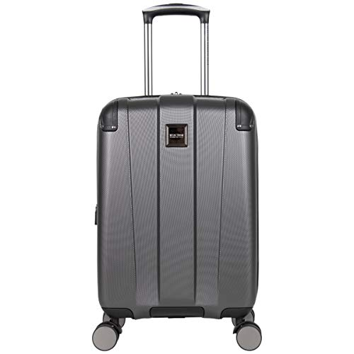 Kenneth Cole Reaction Continuum 20' Carry-On Lightweight Hardside Expandable 8-Wheel Spinner Cabin Bag Travel Suitcase, Charcoal