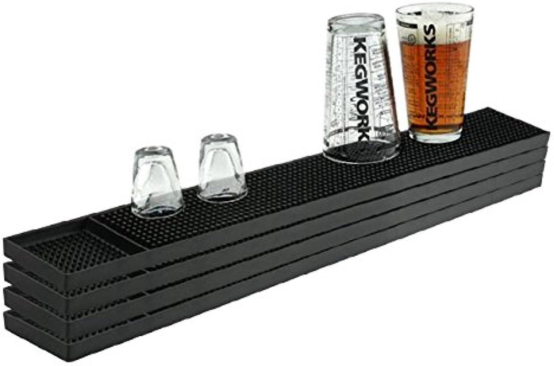 KegWorks Rubber Bar Service Spill Mat Black 23 1 2 Length 4 Pack Of Mats