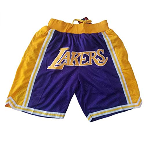 Basketball Jersey Shorts Lakers Shorts Men's Embroidery mesh Sports Basketball Game Training Shorts
