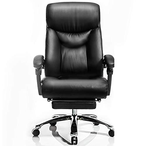 Stühle Liegender Boss Business-Drehstuhl Büro-Boss Heimcomputer Bürostuhl Bequeme Rückenlehne (Color : Black, Size : 70x70x118cm)
