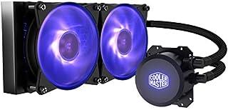 Cooler Master MasterLiquid ML240L RGB Close-Loop CPU Liquid Cooler, 240mm Radiator, Dual Chamber RGB Pump, Dual MF120R RGB Fans w/ RGB Lighting Sync for AMD Ryzen/Intel 1151/2066