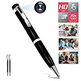 ZXWDDP Hidden Pen Camera Portable 1080P HD spy Body Camera can be Used for Classroom Recording and Participating in Important Meetings and Business, Capable of Continuous Video Recording for 2 Hours