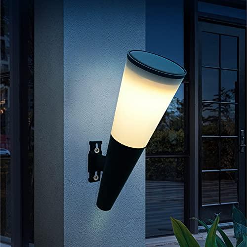 Lixada Lámpara de Pared Solar Patio al Aire Libre Pasillo Lámpara de jardín Seguridad Nocturna IP65 Impermeable
