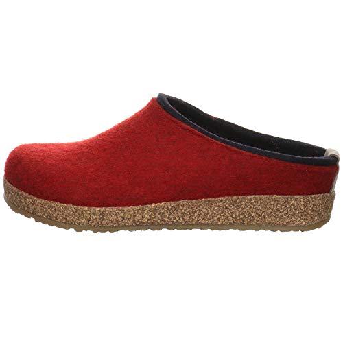 HAFLINGER Unisex-Erwachsene Kris Grizzly Pantoffeln, Rot (Paprika 42), 41 EU
