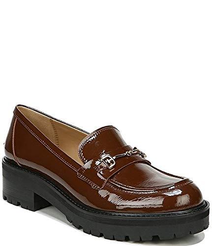 [サムエデルマン Sam Edelman] シューズ 26.0 cm スリッポン・ローファー Tully Patent Leather Bit Buckle Loafers Warm Cocoa レディース [並行輸入品]