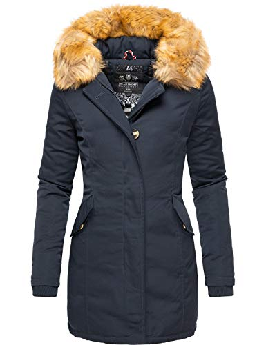 Marikoo Damen Winter Mantel Winterparka Karmaa Navy Gr. M