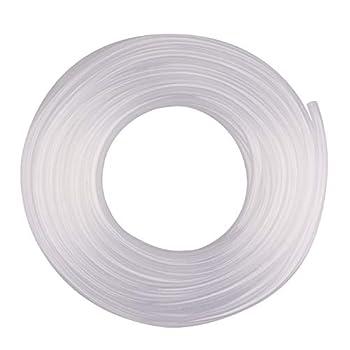 DERPIPE Clear Vinyl Tubing - 3/8   ID 1/2   OD PVC Tube Food Grade Flexible Plastic Pipe Hose for Homebrewing Siphon Pump 30.5 Meters 100ft  Length
