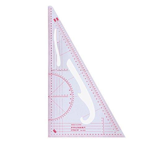 Eliky Multifunktions-Dreieckskala-Lineal Maßschneiderei Schneiderei Nähen