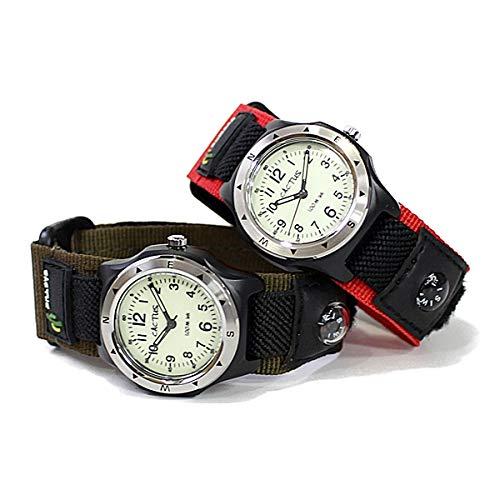 [カクタス]CACTUSキッズウォッチ男の子女の子防水マジックテープナイロンベルト腕時計[国内正規品](CAC-65-M07/レッド)