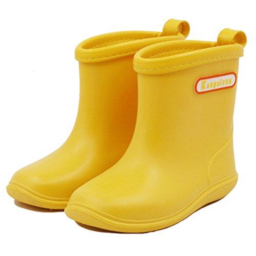 Hony Gummistiefel Kinder Baby Overknee Stiefel - 1Pcs Regenstiefel Unisex Mädchen Jungen wasserdichte Schuhe 1–6 Jahre