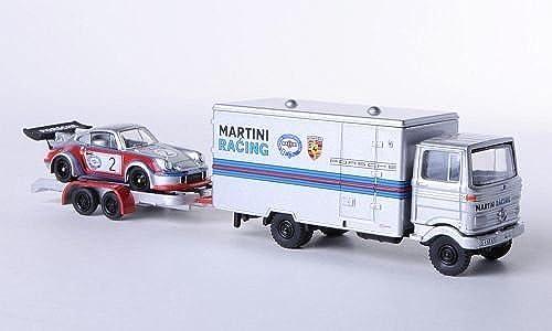 Mercedes + Porsche LP 608, Martini Racing, Modellauto, Fertigmodell, Bub 1 87
