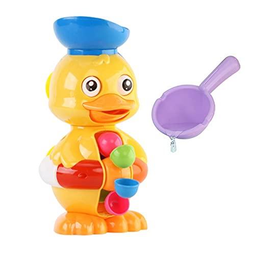 N-E - Juguetes de baño de rueda con agua de pato, para niños y niñas, baños, juguetes de agua de playa, ventosa, bordes lisos sin manchas