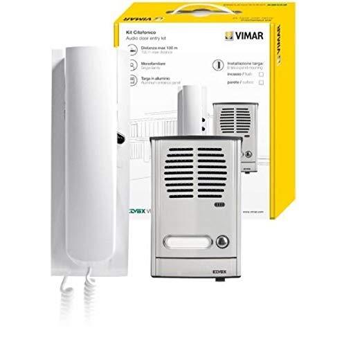884g–La Costruzione Elettrico ELVOX. 2Fili Kit di interfono monofam Bianco