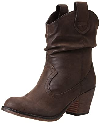 Rocket Dog Women's Sheriff Vintage Worn PU Western Boot, Brown, 7 M US