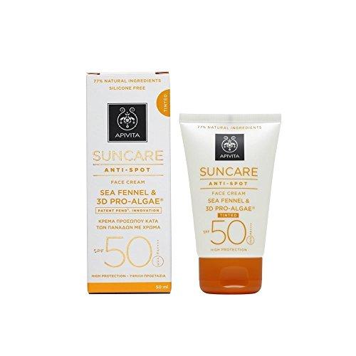 Apivita suncare Anti-Spot Face Cream SPF 50–tinted 50ml
